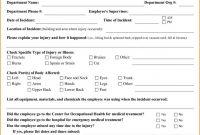 Incident Report Register Template New Remarkable Employee Incident Report Template Ideas format Sample