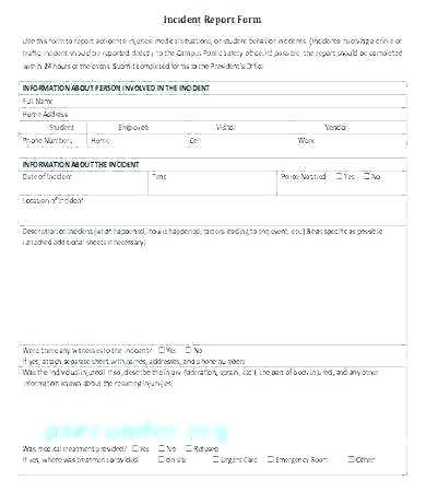 Incident Report Template Itil Awesome System Incident Report Sample format Information Security New