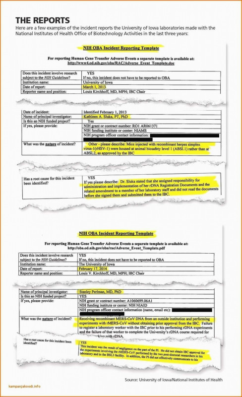 Incident Report Template Itil New 007 Template Ideas Employee Incident Report Accident Form 290568