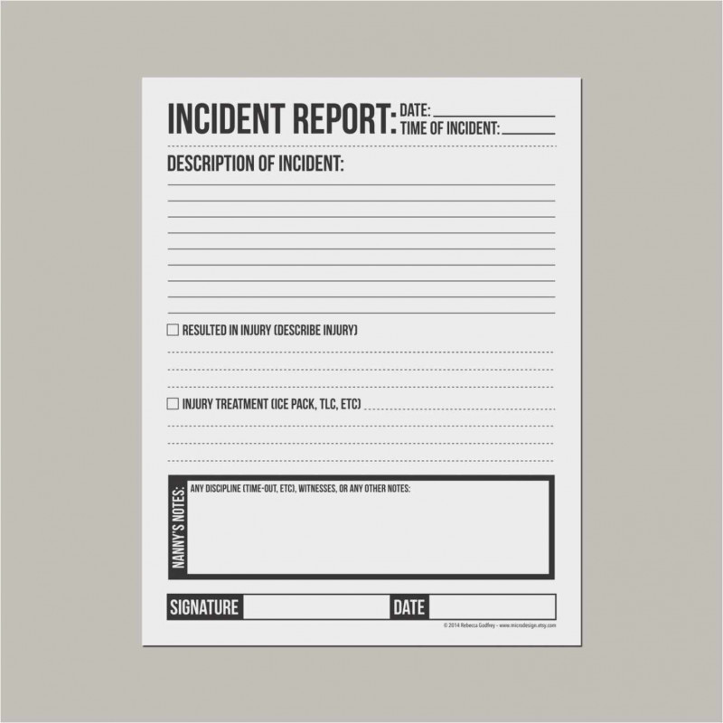 Incident Report Template Uk Awesome Free Collection 53 Incident Report form Template Example Free