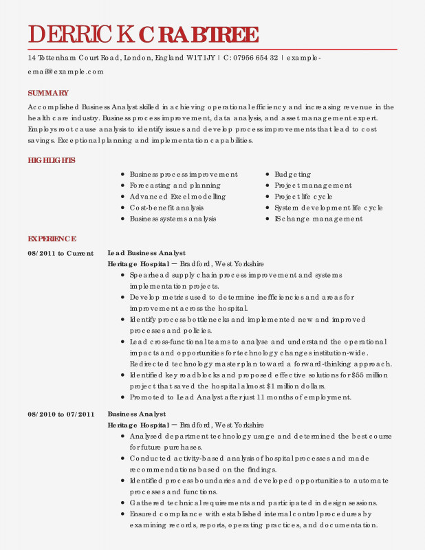 Industry Analysis Report Template New Resume Samples Of Business Analyst Valid Resume Skills and Abilities