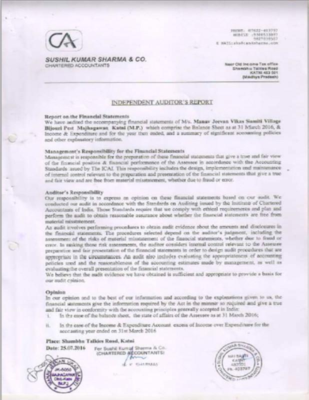Information System Audit Report Template New Welcome to Manav Jeevan Vikas Samiti An Ngo In Jabalpur Madhya Pradesh