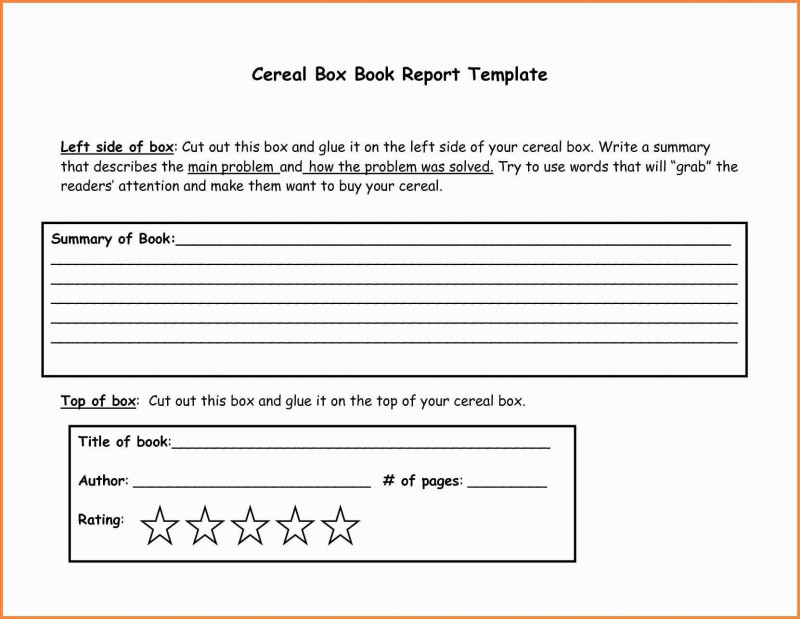 It issue Report Template New Cheap Printable Cereal Box Book Report Template Hamburger Book