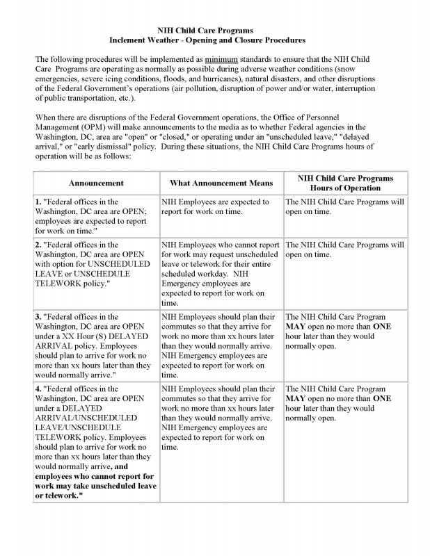 Kids Weather Report Template New Nih Child Care Centers