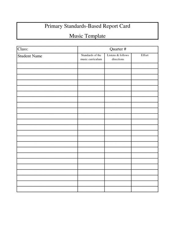 Kindergarten Report Card Template Unique School Report Card Templates Leon Seattlebaby Co
