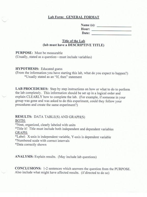 Lab Report Template Middle School Unique Bio Lab Report Example Meetpaulryan