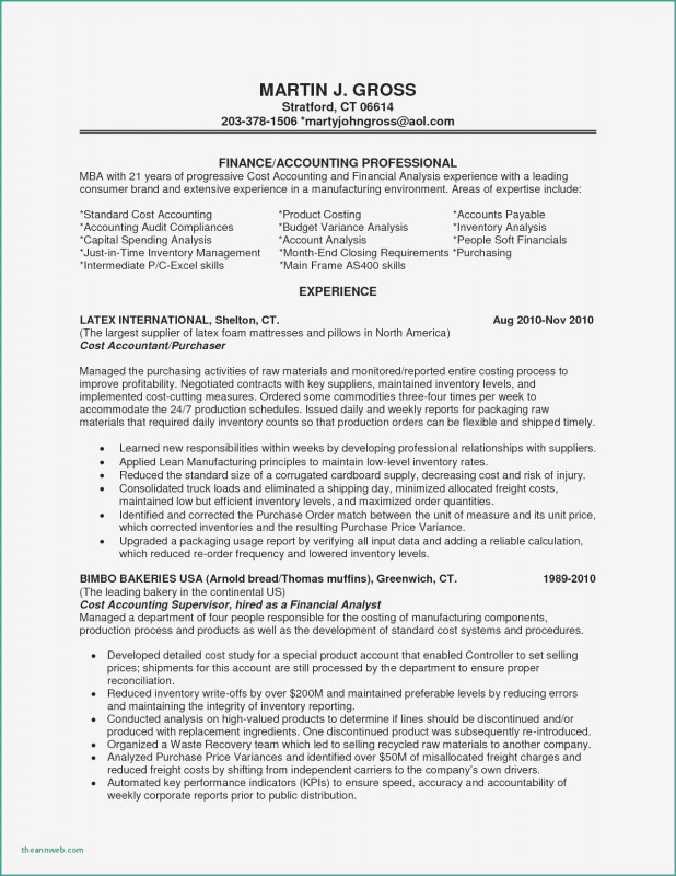 Latex Template for Report New Sample Resume Of Accounting Supervisor Valid Inventory Manager