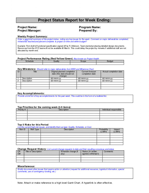 Monthly Report Template Ppt New Project Report Template Weekly Status Sample Google Search Work