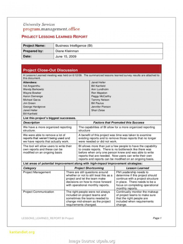 Monthly Status Report Template Unique Project Management Project Management Report Template Project