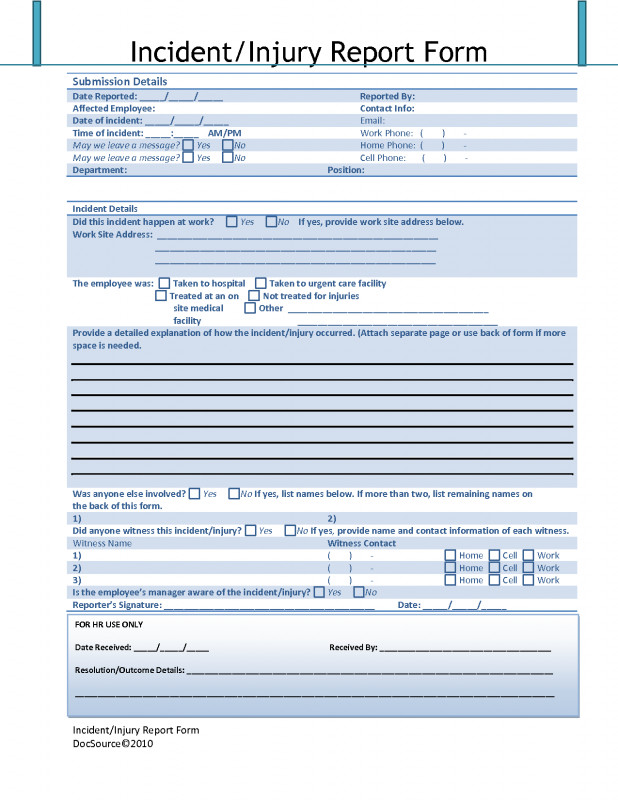 Near Miss Incident Report Template Professional Nice Accident Incident Report Images Gallery Template Accident
