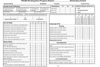 Preschool Weekly Report Template New Sample Progress Reports for Elementary Students 101 Report Card