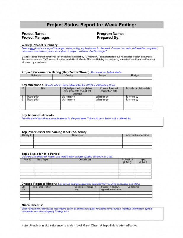 Project Closure Report Template Ppt Unique 013 Weekly20status20report20template1 Png Weekly Status Report