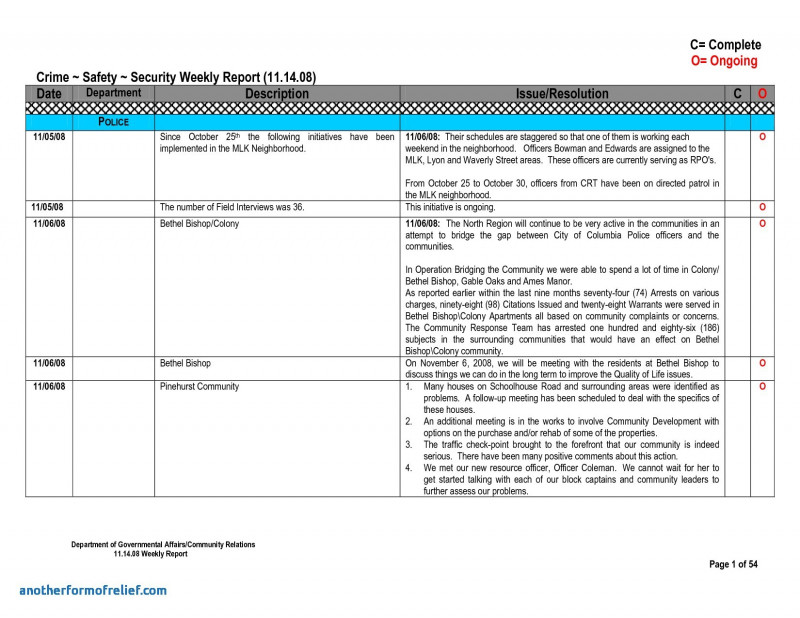 Project Daily Status Report Template Professional 013 Weekly20status20report20template1 Png Weekly Status Report