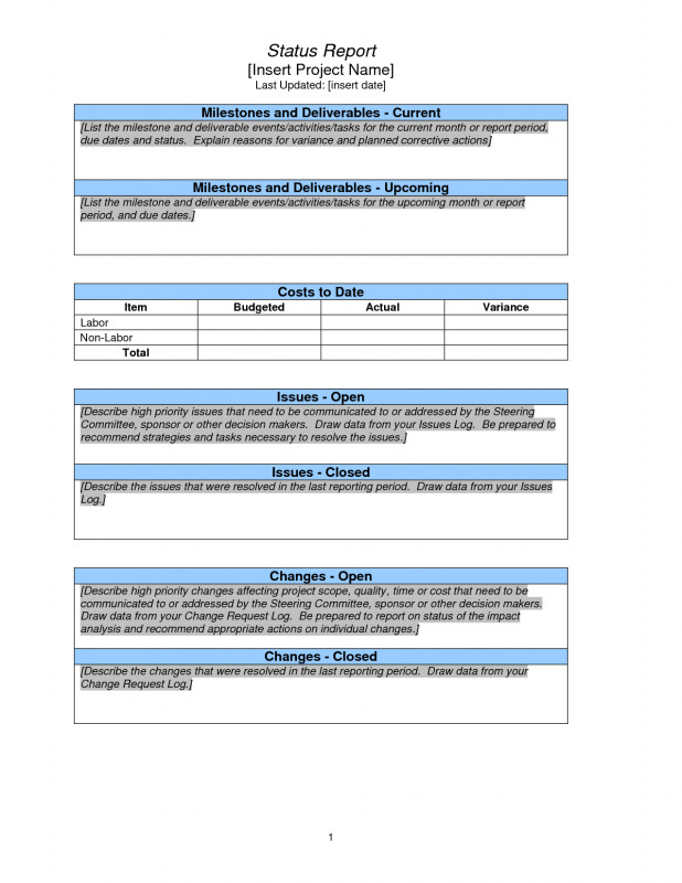 Project Status Report Email Template New Project Status Report Sample Pmp Project Status Report Progress