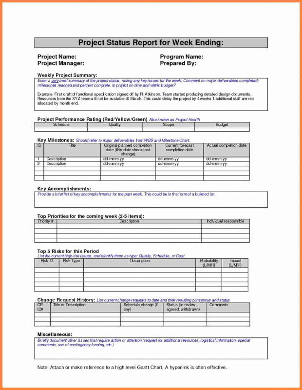 Project Status Report Template Word 2010 Unique Project Management Project Management Report Template Weekly
