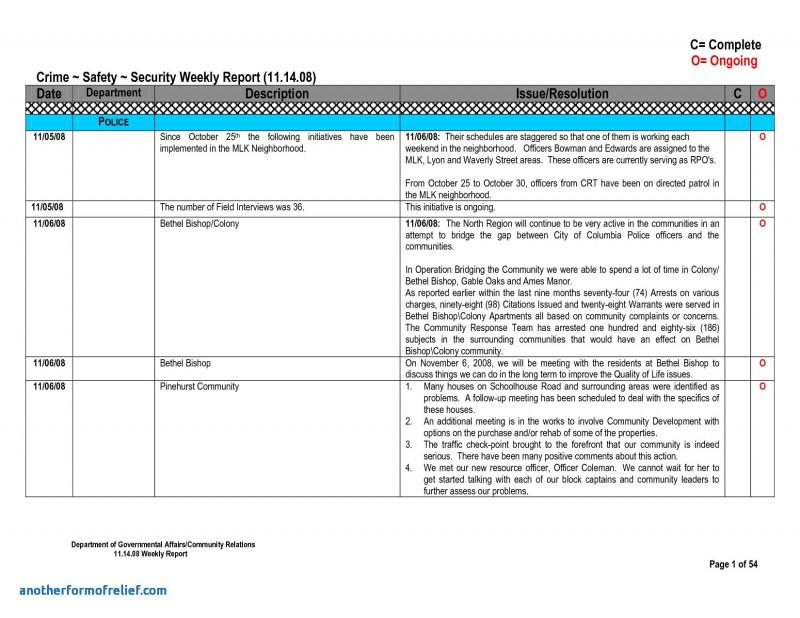 Qa Weekly Status Report Template Professional 013 Weekly20status20report20template1 Png Weekly Status Report