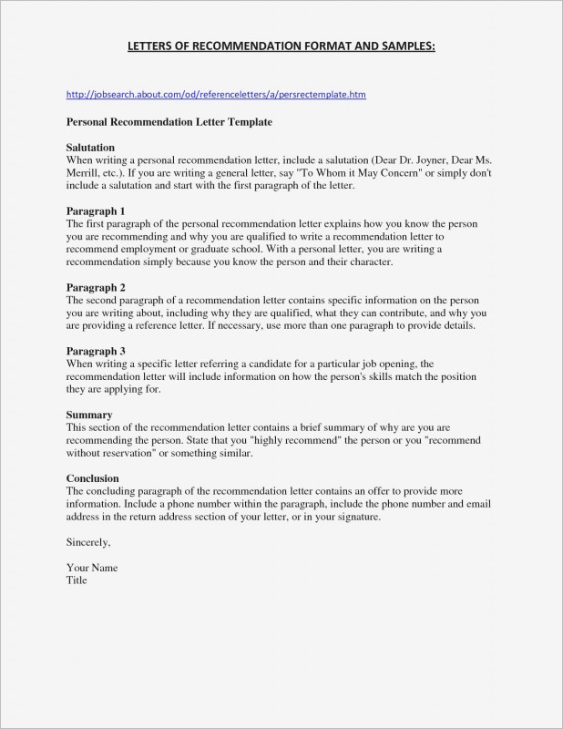 Recommendation Report Template Professional Personal Recommendation Letter Template Sample