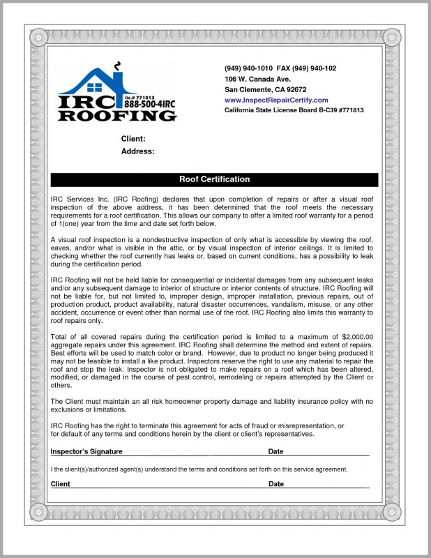 Roof Inspection Report Template Unique Roof Inspection Letter Template Samples Letter Template Collection