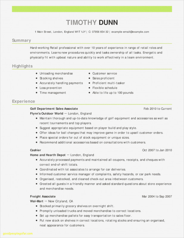 Sales Analysis Report Template Awesome Skills for A Resume Professional Customer Service Resume Sample
