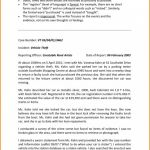 Sample Fire Investigation Report Template