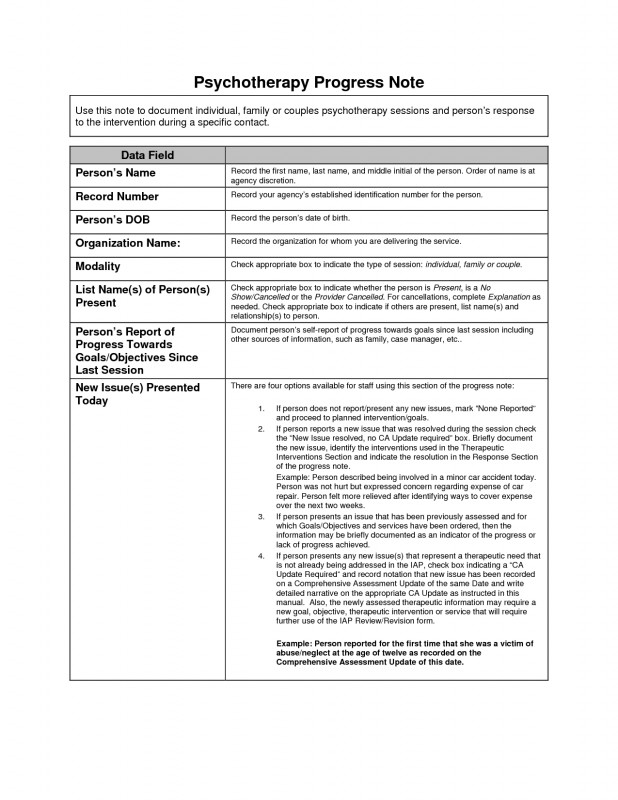 School Progress Report Template New Sample Of Psychologist Session Note Google Search Professional