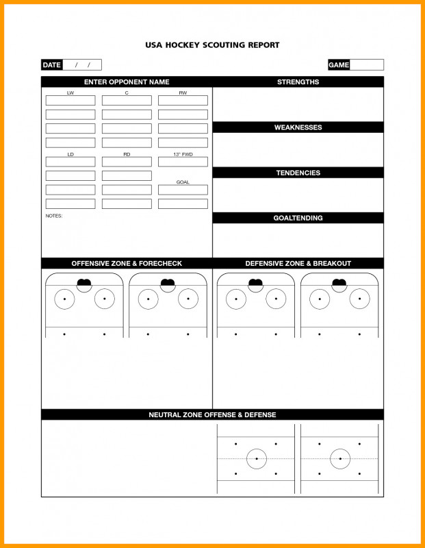 Scouting Report Template Basketball Professional Basketball Ng Report Template Sheet Simple Example Scouting Excel