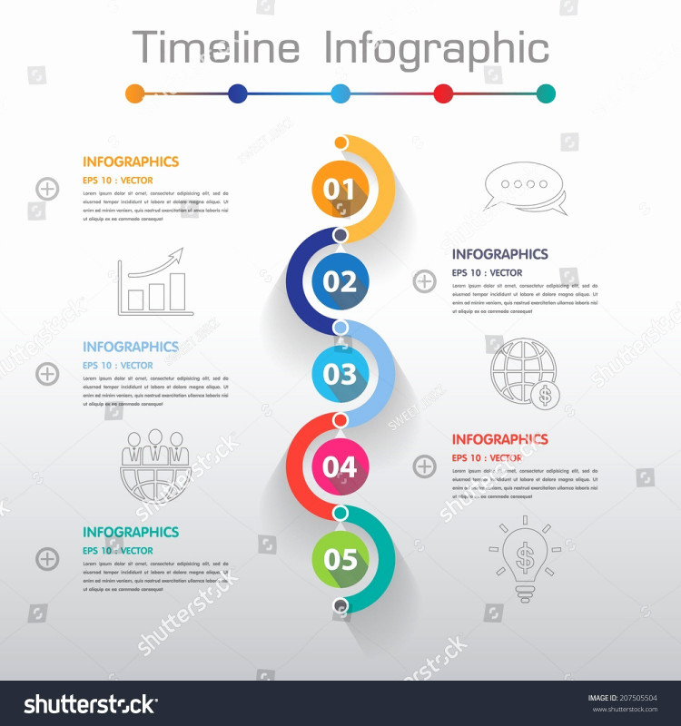 Site Visit Report Template Free Download Awesome Timeline Vector Infographic Download