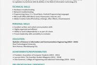 Template for Technical Report Unique Resume Sample Technical Skills Salumguilher Me