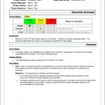Weekly Manager Report Template