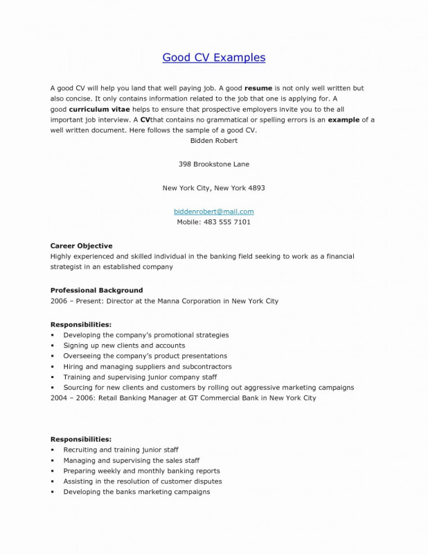 Weekly Manager Report Template Awesome Simple Job Resumes Examples Free Simple Cv Examples for Job Best