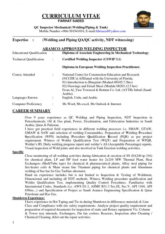 Welding Inspection Report Template Unique 100 Qc Resume Sample Quality Control Job Description Resume