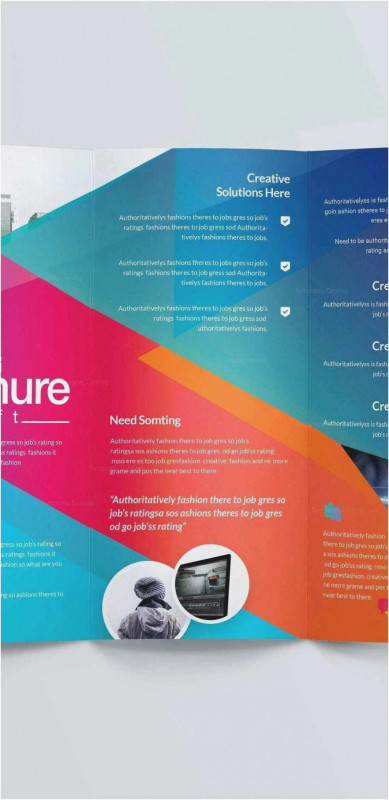 11x17 Brochure Template New Free Collection 4 Page Corporate Brochure Four Template E Layout