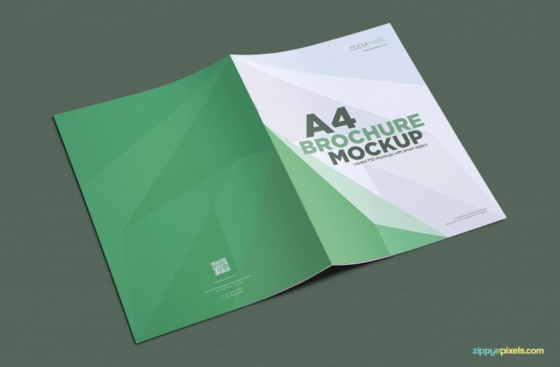 2 Fold Brochure Template Free Unique A4 Brochure Mockup Free Psd Download Zippypixels