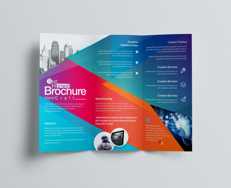 2 Fold Brochure Template Psd New Excellent Professional Corporate Tri Fold Brochure Template