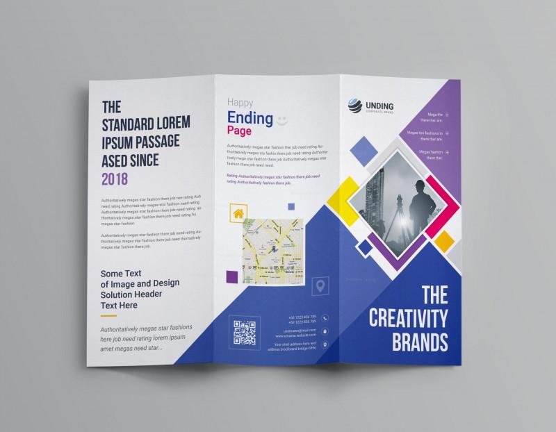 2 Fold Brochure Template Psd Unique Neptune Professional Corporate Tri Fold Brochure Template 001207
