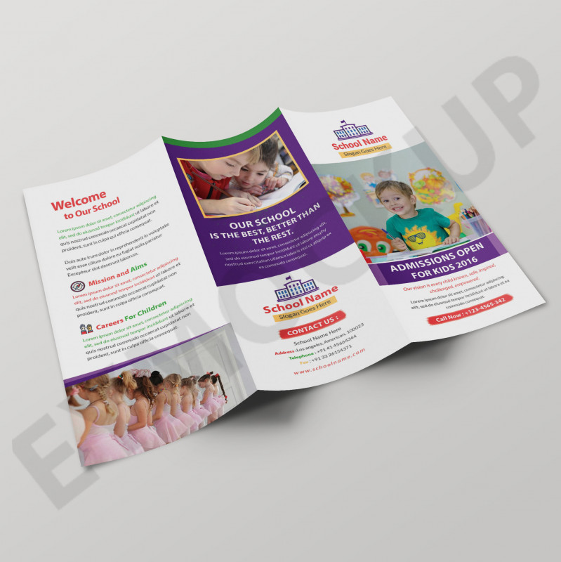 3 Fold Brochure Template Psd Awesome School Tri Fold Brochure Template Eymockup