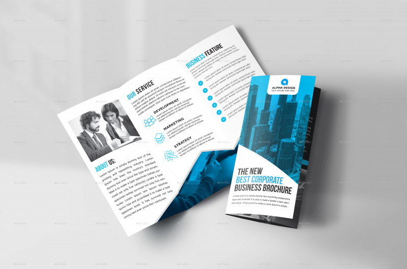 3 Fold Brochure Template Psd New Corporate Tri Fold Brochure by Alpha1x Graphicriver