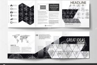4 Panel Brochure Template Unique Business Templates for Square Tri Fold Brochures Leaflet Cover