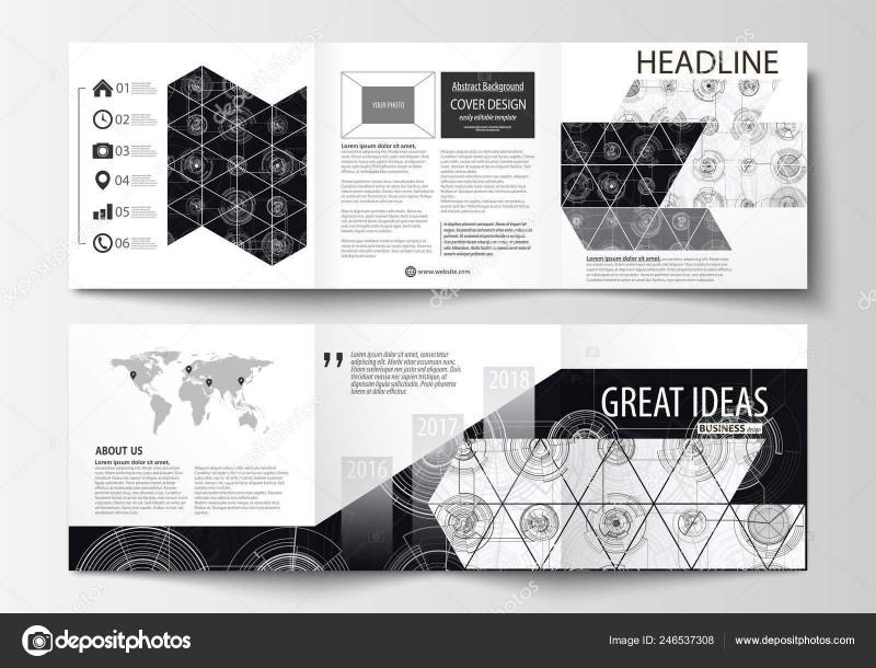4 Panel Brochure Template Unique Business Templates for Square Tri Fold Brochures Leaflet Cover