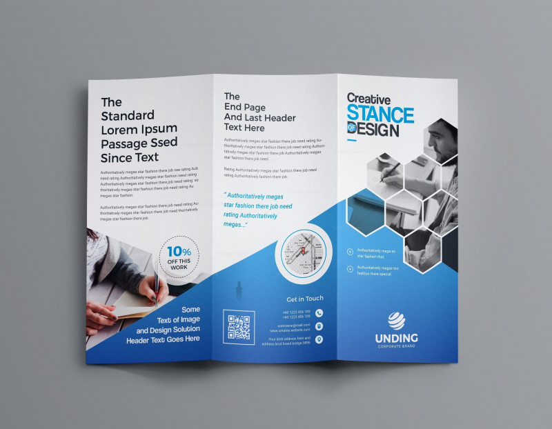 6 Panel Brochure Template Awesome Aphrodite Business Tri Fold Brochure Template 001201