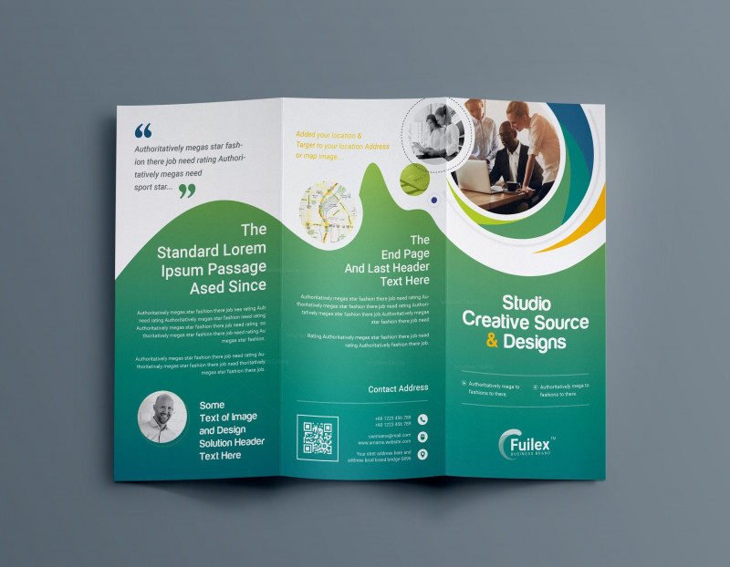 6 Panel Brochure Template Unique Hypnosis Professional Tri Fold Brochure Template 001203