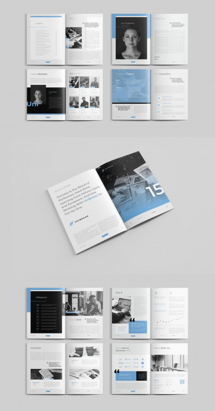 8.5 X11 Brochure Template Awesome Company Profile is Editorial Layout Template with 20pp Indesign