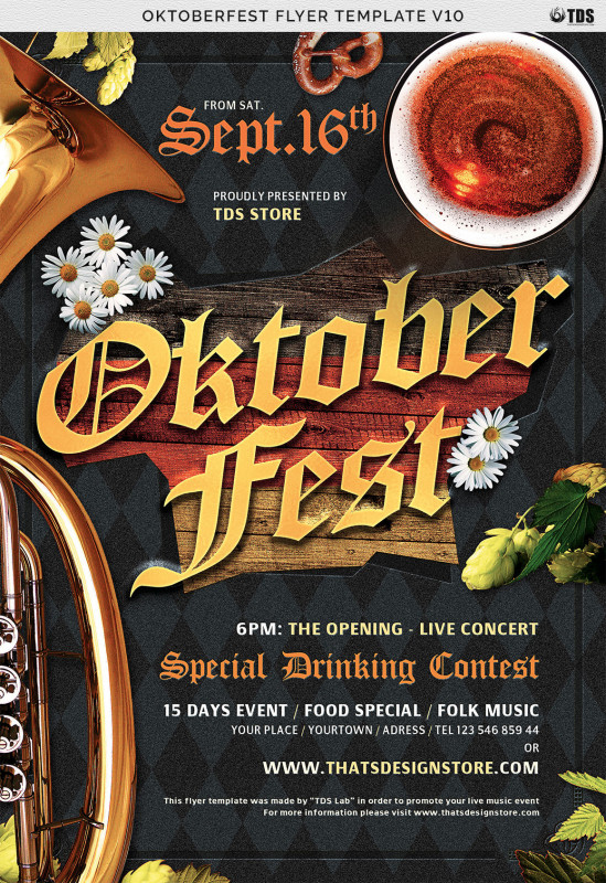 8.5 X11 Brochure Template Unique Oktoberfest Flyer Template V10 By Thats Design Store Thehungryjpeg Com