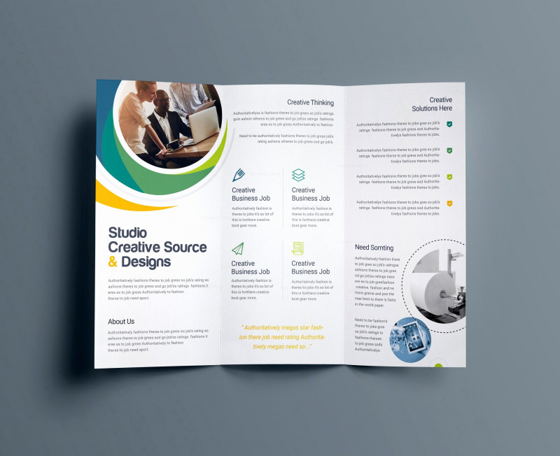 Adobe Illustrator Tri Fold Brochure Template New 010 Free