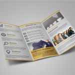 Adobe Illustrator Tri Fold Brochure Template New Corporate Trifold Brochure On Behance
