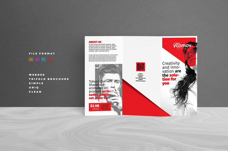 Adobe Indesign Tri Fold Brochure Template Awesome Business Tri Fold Brochure Brochure Templates Creative Market