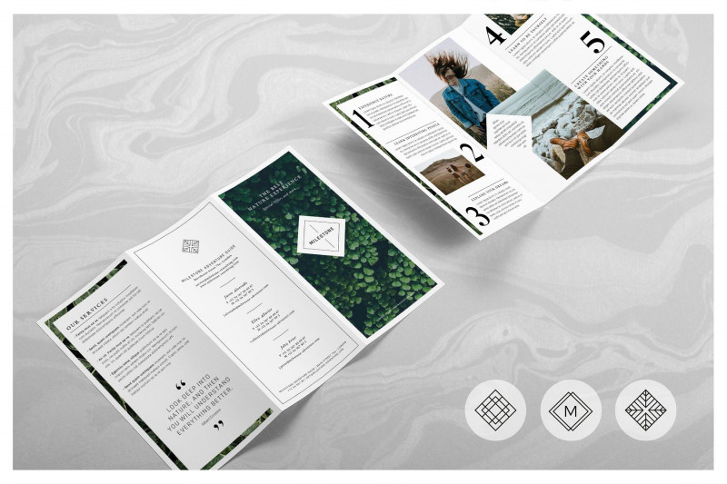 Adobe Indesign Tri Fold Brochure Template Awesome Milestone Trifold Brochure by Rubyheart Studio On Creativemarket