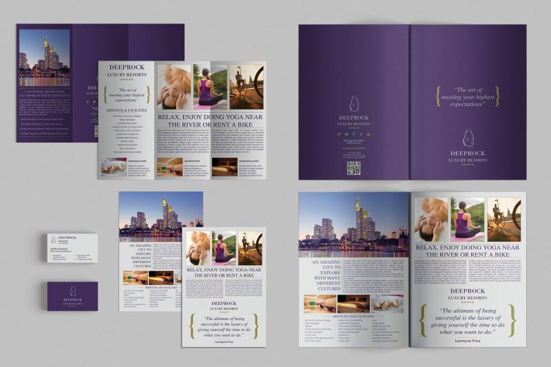 Adobe Indesign Tri Fold Brochure Template New Set Of Brochures Stationery 01 Brochure Templates Creative Market