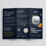 Adobe Tri Fold Brochure Template New Logic Professional Corporate Tri Fold Brochure Template Graphic