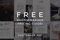 Architecture Brochure Templates Free Download Unique Free Photographer Pricing Guide Template Signature Edits Edit